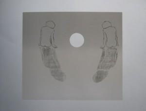 Handprint of Tariq • 50cm x 60cm • Oil Based Monoprint
