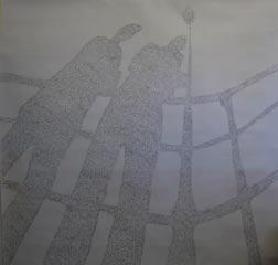 Lamandou Scratchmarks • 122cm x 122cm • Pencil on Paper