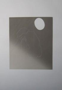 Moon • 50cm x 60cm • Oil Based Monoprint